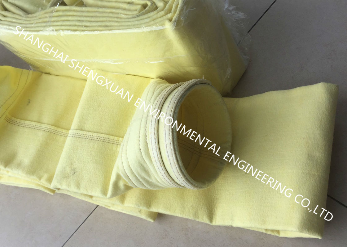 DN 152 x 8000 mm Dust Collector Filter Bags For 1050 m3 Blast Furnace Dry Gas Cleaning